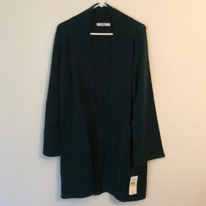 Open front cardigan teal green sz M NWT $79